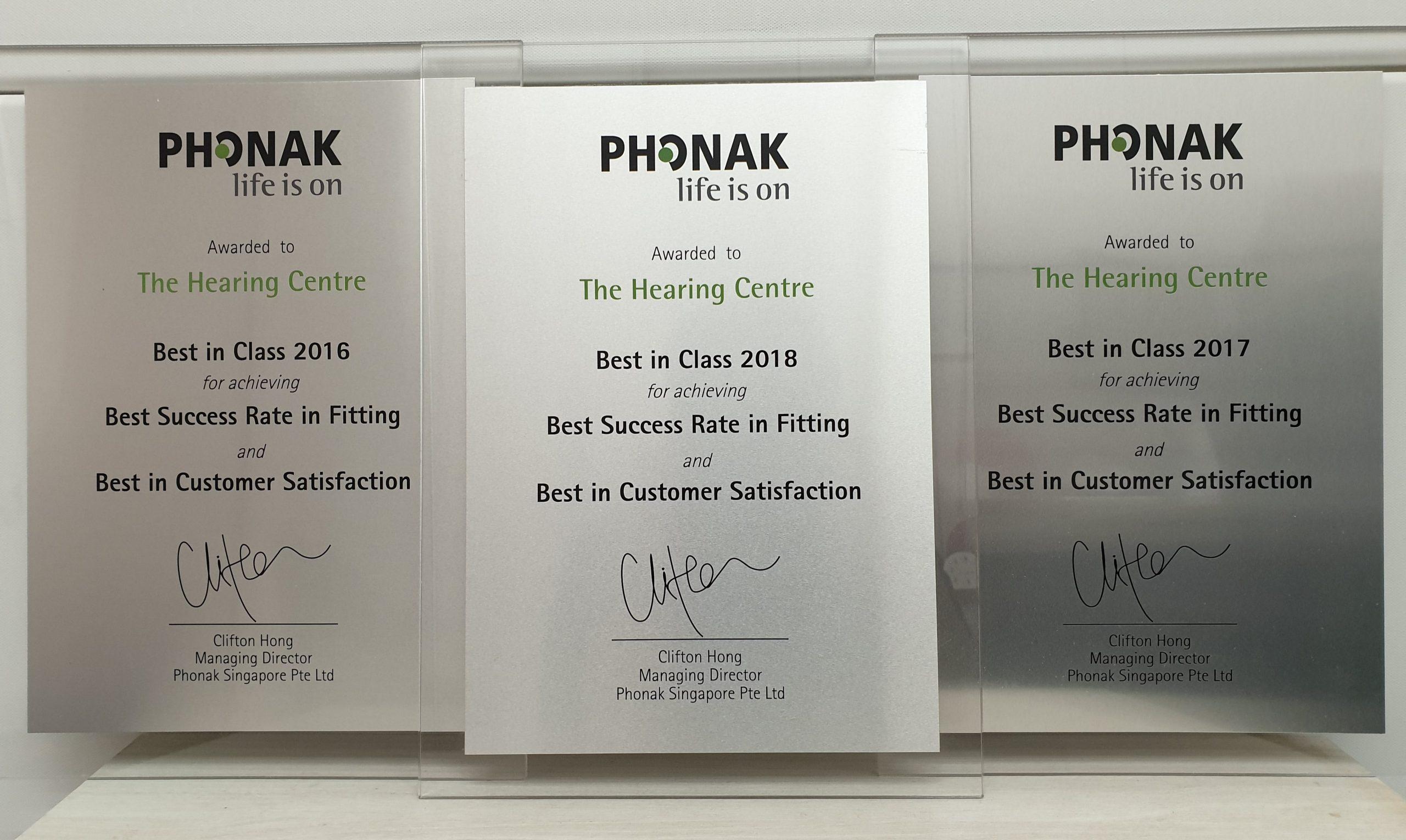 Phonak hearing aids awards